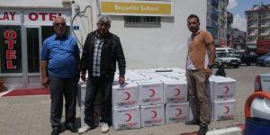 Beyşehir'de Kızılay'dan ramazan yardımı