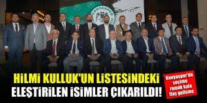 Konyaspor'da seçime ramak kala flaş gelişme! Hilmi Kulluk'un listesi değişti