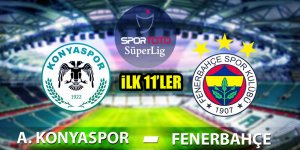 Atiker Konyaspor - Fenerbahçe | İLK 11'LER!