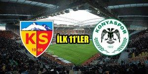 Kayserispor - Atiker Konyaspor | İLK 11'LER