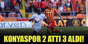 Konyaspor, Kayseri'de 2 attı 3 aldı!
