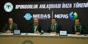 Atiker Konyaspor MEDAŞ/MEPAŞ ile sponsorluk anlaşmasını yeniledi