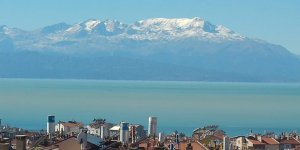 Konya'da Anamas Dağı'nın zirvesi beyaza büründü