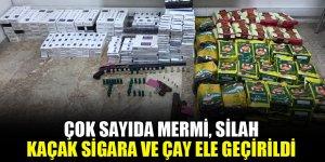 Ereğli polisinden operasyon: çok sayıda mermi, silah, kaçak sigara ve çay ele geçirildi
