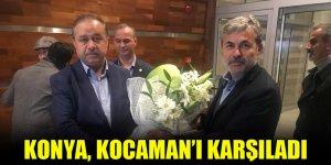 Konya, Aykut Kocaman'ı karşıladı