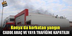 Konya'da akaryakıt tankı fabrikasında korkutan yangın