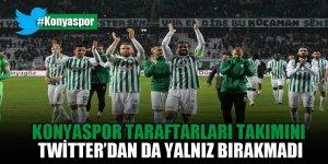 Konyaspor taraftarları takımını Twitter'dan da yalnız bırakmadı