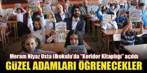 """Meram Niyaz Usta İlkokulu'nda """"Koridor Kitaplığı"""" açıldı"""