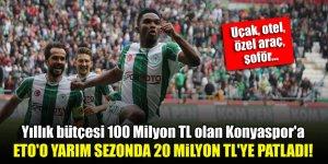 Yıllık bütçesi 100 Milyon TL olan Konyaspor'a Eto'o'nun maliyeti yarım sezonda 20 Milyon TL oldu!