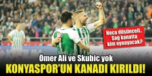 Ömer Ali ve Skubic yok, Konyaspor'un kanadı kırıldı! Hoca düşünceli...Sağda kim oynayacak?