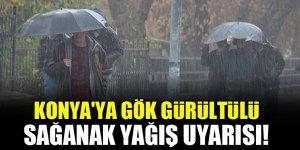 Konya'ya gök gürültülü sağanak yağış uyarısı!
