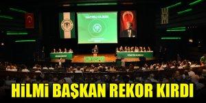 Konyaspor'da Hilmi Başkan rekor kırdı