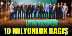 Konyaspor yönetiminden 10 milyon TL'lik bağış