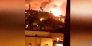 Suudi Arabistan'ı vurdular! Saldırı sonrası büyük yangın