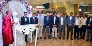 Hadim İlçe Başkanı Saffet Duran, oğlunu evlendirdi