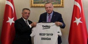 Erdoğan, Beşiktaş Başkanı Çebi'yi kabul etti