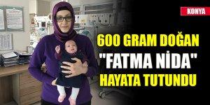 """600 gram doğan """"Fatma Nida"""" hayata tutundu"""