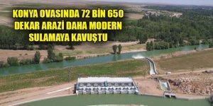 Konya Ovasında 72 bin 650 dekar arazi daha modern sulamaya kavuştu