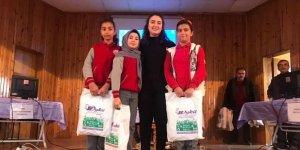 Bilgi yarışmasında ilçe birincisi öğrenciler ödüllendirildi