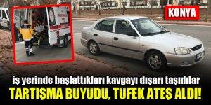 Konya'da iş yerinde başlayıp ertesi gün devam eden tartışma kanlı bitti!