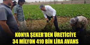 Konya Şeker'den üreticiye 34 milyon 410 bin lira avans