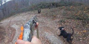 Domuz saldırısını kask kamerası ile görüntüleyen avcı o anları anlattı