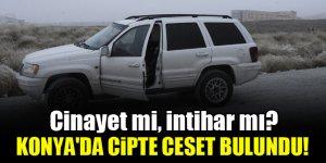 Cinayet mi, intihar mı? Konya'da cipte ceset bulundu!