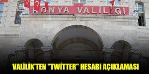 """Valilik'ten """"Twitter"""" hesabı açıklaması"""