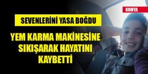 15 yaşındaki Mustafa Kemal, yem karma makinesine sıkışarak hayatını kaybetti