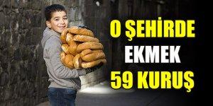 O şehirde ekmek 59 kuruşa düştü