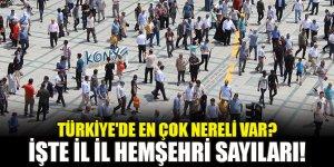 Türkiye'de en çok nereli var? İşte il il hemşehri sayıları!