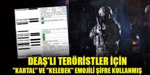 """DEAŞ'lı teröristler için """"kartal"""" ve """"kelebek"""" emojili şifre kullanmış"""