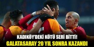 Seri bitti! Galatasaray 20 yıl sonra Kadıköy'de kazandı