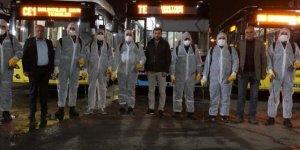 Diyarbakır'da toplu taşıma araçları salgın hastalıklara karşı dezenfekte edildi