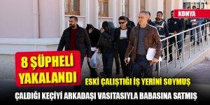 Konya'da hırsızlık yaptıkları iddiasıyla 8 şüpheli yakalandı