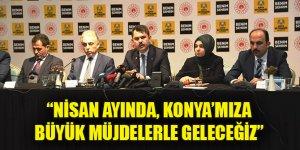 """Bakan Kurum: """"Nisan ayında, Konya'mıza büyük müjdelerle geleceğiz"""""""