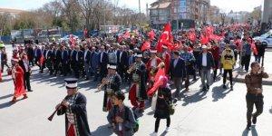 Konya'da şehitler için yürüdüler
