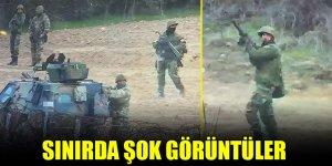 Yunan askerlerinin meskun mahal gözetmeden ateş etmesi görüntülendi