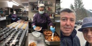 Türk iş adamı Bulgaristan'da karantina altındaki otelinde yoksullara yemek sağlıyor