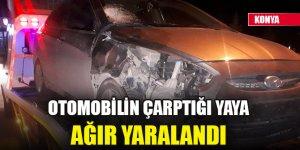 Konya'da otomobilin çarptığı yaya ağır yaralandı