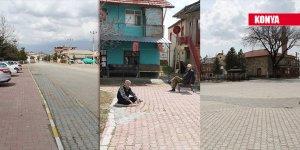 Konya'nın Yalıhüyük ilçesinde sokağa çıkma yasağına uyum rekor düzeyde