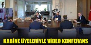 Cumhurbaşkanı Erdoğan kabine üyeleriyle görüştü