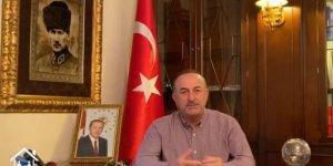 """Bakan Çavuşoğlu'ndan yurt dışındaki Türklere videolu """"Evde kal"""" çağrısı"""