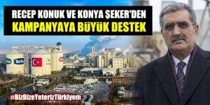 Recep Konuk ve Konya Şeker'den Milli Dayanışma Kampanyası'na destek