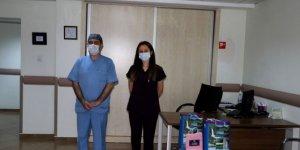 Rize'de 2 sağlık personeli korona virüsü yendi, görevlerine döndü