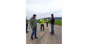 Başkan Çiğdem'den ilçe ve il sınırında uygulama yapan polis ekiplerine ziyaret