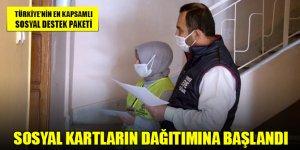 Konya'da Sosyal Kartların dağıtımına başlandı
