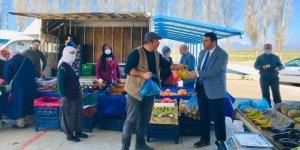 Yalıhüyük Kaymakamı Kılınç, pazarcı esnafını ziyaret etti