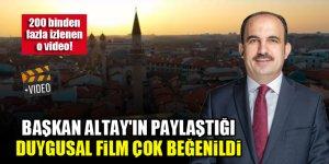 Başkan Altay'ın paylaştığı duygusal film çok beğenildi! İşte 200 binden fazla izlenen o video