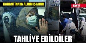 Konya'da umre dönüşü karantinaya alınan 350 kişi, evlerine gönderildi